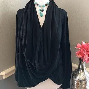 J.jill Black Wrap Front Sweater sz S
